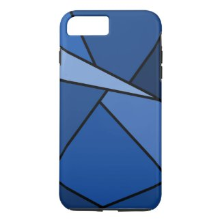 Abstract Blue Shapes iPhone 7 Plus Tough Case