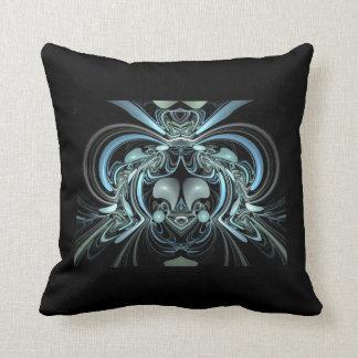 Abstract Blue Silver Decorative Toss Throw Pillow