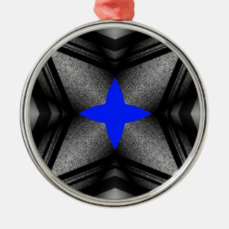 Abstract Blue Star Metal Ornament