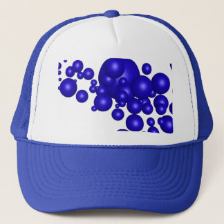 Abstract Blue Swarm Trucker Hat