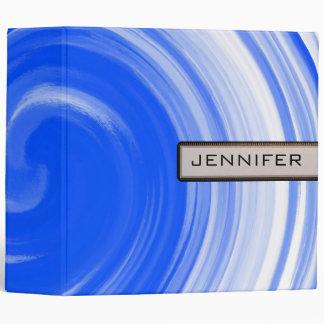 Abstract Blue Swirl Art Background #2 Binder
