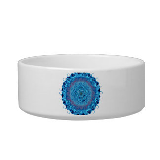 Abstract Blue Swirls Bowl
