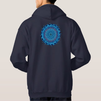 Abstract Blue Swirls Hoodie