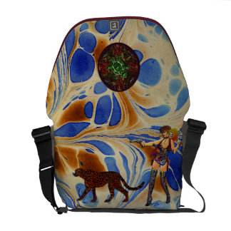 Abstract Blue Tan Art Cowgirl Leopard & Southwest Commuter Bags