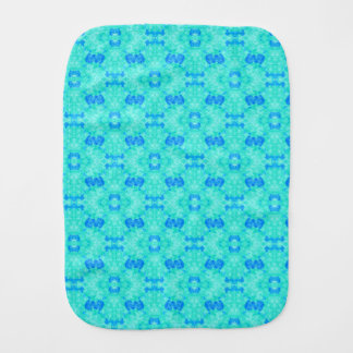 Abstract blue teal watercolor water drops pattern. baby burp cloth