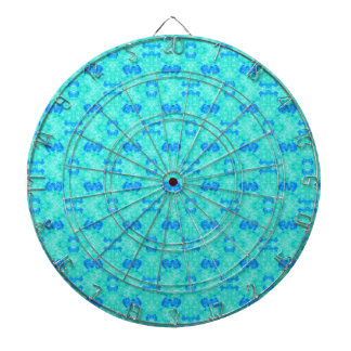 Abstract blue teal watercolor water drops pattern. dart boards
