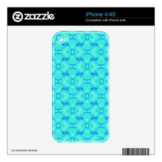 Abstract blue teal watercolor water drops pattern. skin for iPhone 4S