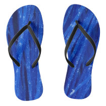 Abstract Blue Texture Design Flip Flops