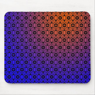Abstract Blue to Orange Mouse Pad