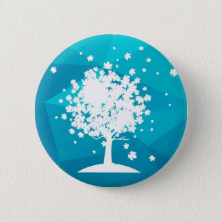 abstract blue tree -beautiful button