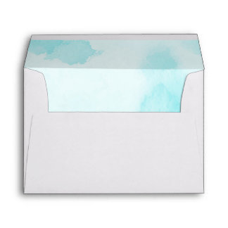 Abstract Blue Watercolor | 5 x 7 Wedding Envelope