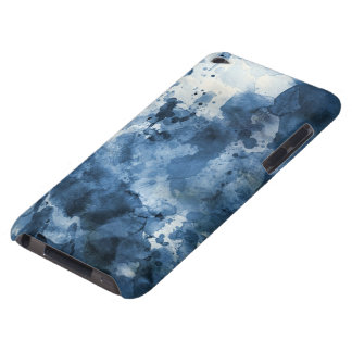 Abstract blue watercolor background barely there iPod cover