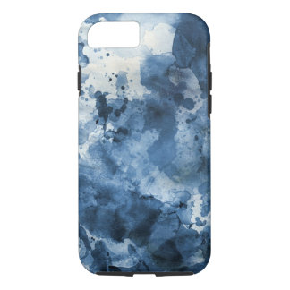 Abstract blue watercolor background iPhone 7 case
