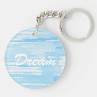 Abstract blue watercolor background, texture. keychain
