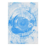 Abstract blue watercolor background, texture. poster
