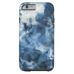Abstract blue watercolor background tough iPhone 6 case