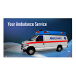 Abstract Blue Wave Ambulance Service Business Card