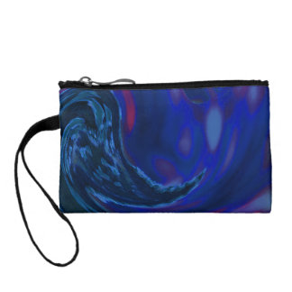 Abstract Blue Wave Coin Purse