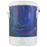 Abstract Blue Wave Igloo Beverage Cooler