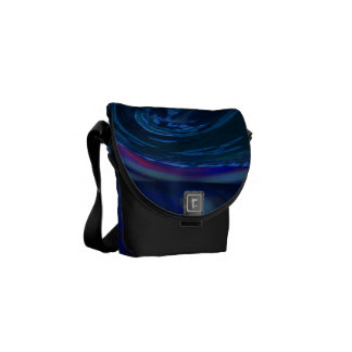 Abstract Blue Wave Courier Bag