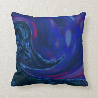Abstract Blue Wave Pillow