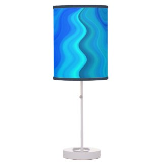 Abstract blue waves pattern lamps
