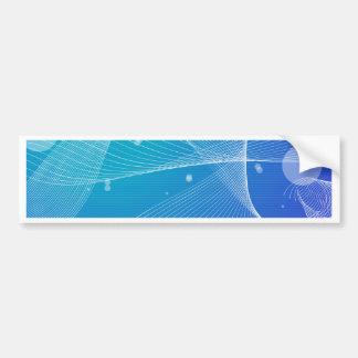 Abstract Blue Wavy Line Design Bumper Sticker