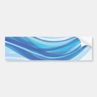 ABSTRACT BLUE WHITE DIGITAL SWIRLS COOL DIGITAL BA BUMPER STICKERS