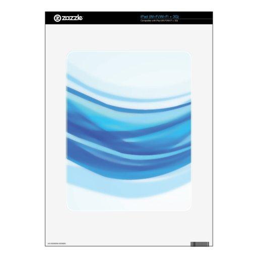 ABSTRACT BLUE WHITE DIGITAL SWIRLS COOL DIGITAL BA iPad DECAL