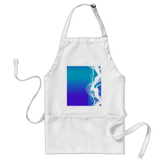 Abstract  Blue White Lighting Apron