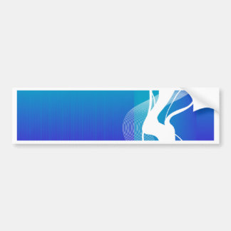 Abstract  Blue White Lighting Bumper Sticker