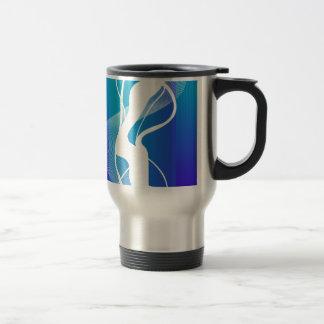 Abstract  Blue White Lighting Travel Mug