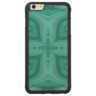 Abstract Blue Wood Pattern Carved Maple iPhone 6 Plus Bumper Case