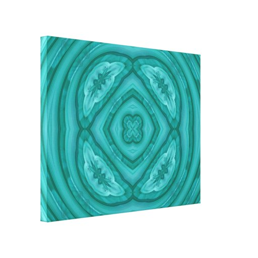 Abstract Blue Wood Pattern Gallery Wrapped Canvas