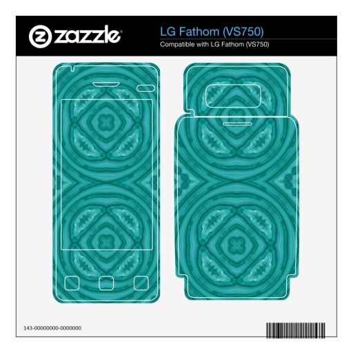 Abstract Blue Wood Pattern LG Fathom Skin