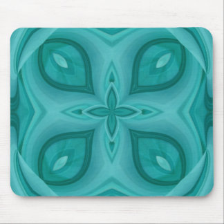 Abstract Blue Wood Pattern Mouse Pad