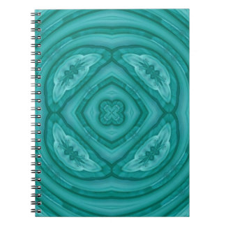 Abstract Blue Wood Pattern Spiral Note Book