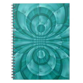 Abstract Blue Wood Pattern Spiral Notebook
