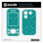 Abstract Blue Wood Pattern Samsung B3310 Skin