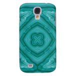 Abstract Blue Wood Pattern Samsung Galaxy S4 Cases