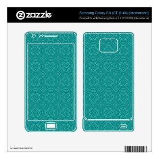 Abstract Blue Wood Pattern Samsung Galaxy S II Skins