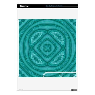 Abstract Blue Wood Pattern Skin For PS3 Slim