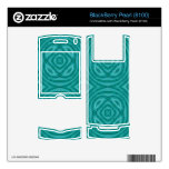 Abstract Blue Wood Pattern Skins For BlackBerry