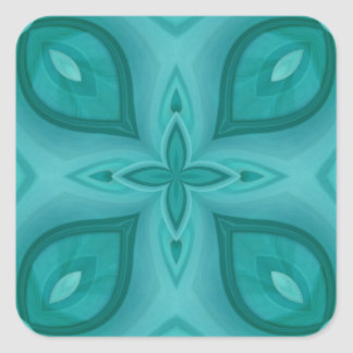 Abstract Blue Wood Pattern Square Sticker