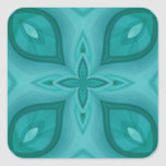Abstract Blue Wood Pattern Stickers