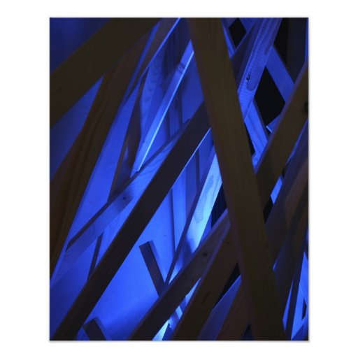 Abstract - blue wood photo print