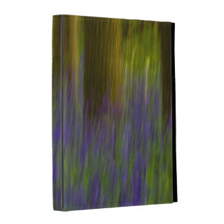 Abstract Bluebell Woods iPad Cases