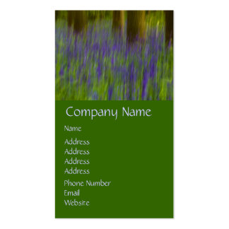 Abstract Bluebell Woods Double-Sided Standard Business Cards (Pack Of 100)