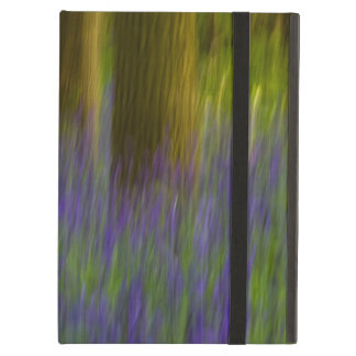 Abstract Bluebell Woods iPad Folio Case