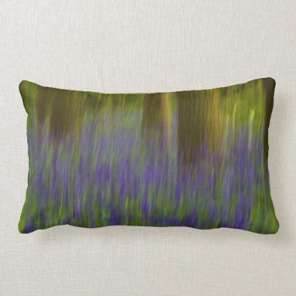 Abstract Bluebell Woods Pillows